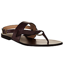 Buy Collection WEEKEND by John Lewis Belfort Leather Sandals, Brown Online at johnlewis.com