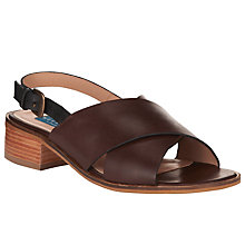 Buy Collection WEEKEND by John Lewis Dieppe Leather Crossover Sandals, Brown/ Black Online at johnlewis.com