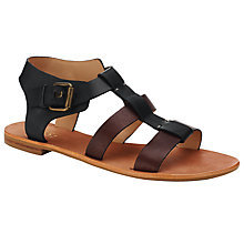 Buy Collection WEEKEND by John Lewis Chambery Leather Gladiator Sandals, Brown/ Black Online at johnlewis.com