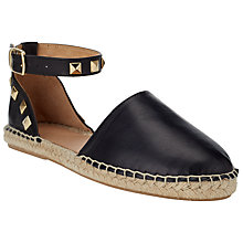 Buy Collection WEEKEND by John Lewis Valence Leather Espadrilles Online at johnlewis.com
