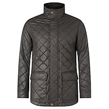 Buy John Lewis Waxed Cotton Quilted Jacket, Olive Online at johnlewis.com
