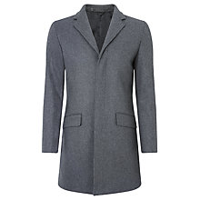 Buy Kin by John Lewis Herringbone Crombie Coat, Charcoal Online at johnlewis.com