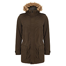 Buy John Lewis Carbon Cotton Parka, Khaki Online at johnlewis.com