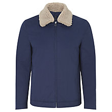 Buy Kin by John Lewis Short Borg Collar Harrington Jacket, Dark Navy Online at johnlewis.com