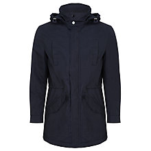 Buy Kin by John Lewis Waxed Cotton Hooded Parka, Dark Navy Online at johnlewis.com