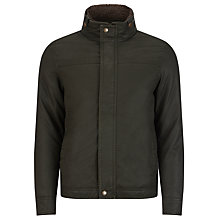 Buy John Lewis Waxed Cotton Shortie Jacket, Olive Online at johnlewis.com