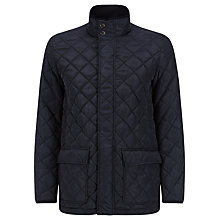 Buy John Lewis Funnel Neck Quilted Jacket, Navy Online at johnlewis.com