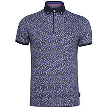Buy Ted Baker Flobo Floral Polo Shirt, Purple Online at johnlewis.com