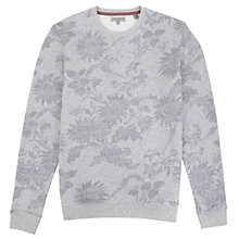 Buy Ted Baker Ridlee Floral Print Sweatshirt, Grey Online at johnlewis.com