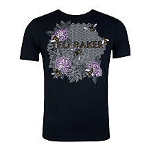 Buy Ted Baker Garve Graphic Print T-Shirt, Navy Online at johnlewis.com