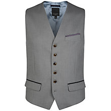 Buy Ted Baker Satwai Patterned Suit Waistcoat, Grey Online at johnlewis.com