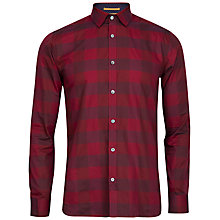 Buy Ted Baker Lostone Check Cotton Shirt, Red Online at johnlewis.com