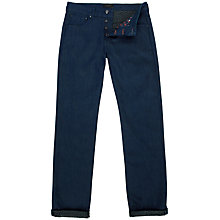 Buy Ted Baker Onacate Printed Hem Tapered Jeans, Rinse Denim Online at johnlewis.com