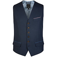 Buy Ted Baker Satwai Patterned Suit Waistcoat, Navy Online at johnlewis.com