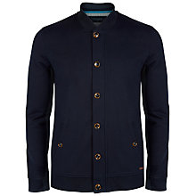 Buy Ted Baker Kween Buttoned Bomber Jacket, Navy Online at johnlewis.com