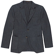Buy Hackett London Garment Dye Wool Blend Blazer, Blue Online at johnlewis.com