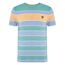 Buy Lyle & Scott Oxford Stripe T-Shirt, Emerald Green Online at johnlewis.com
