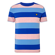 Buy Lyle & Scott Rugby Stripe Jersey T-Shirt, Pink Marl Online at johnlewis.com