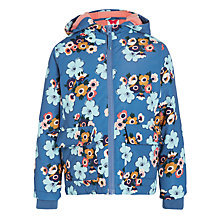 Buy John Lewis Girl Floral Fleece Lined Jacket, Blue/Multi Online at johnlewis.com