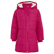 Buy John Lewis Girl Padded Coat, Fuschia Red Online at johnlewis.com