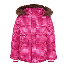 Buy John Lewis Girl 2-In-1 Puffer Spot Coat Online at johnlewis.com