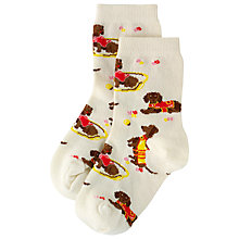 Buy Cath Kidston Sausage Dog Socks, Cream Online at johnlewis.com