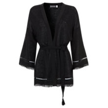 Buy Mint Velvet Knit Kimono, Black Online at johnlewis.com