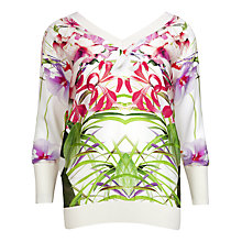 Buy Ted Baker Gotia Mirrored Jumper, Ivory Online at johnlewis.com