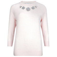 Buy Ted Baker Embellished Front Jumper, Nude Pink Online at johnlewis.com