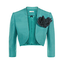 Buy Jacques Vert Detachable Trim Bolero, Bright Blue Online at johnlewis.com