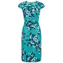 Buy Jacques Vert Floral Printed Dress, Bright Blue Online at johnlewis.com