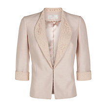 Buy Jacques Vert Lace Collar Jacket, Mid Neutral Online at johnlewis.com