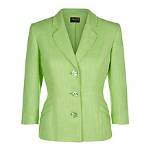 Buy Precis Petite Tweed Jacket, Green Online at johnlewis.com