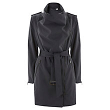 Buy Mint Velvet Cowl Neck Trench Coat, Steel Online at johnlewis.com