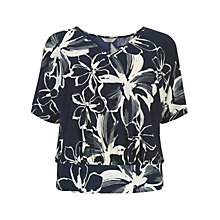 Buy Windsmoor Floral Lace Top, Navy Online at johnlewis.com