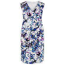 Buy Windsmoor Lily Print Short Dress, Multi White Online at johnlewis.com
