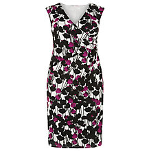 Buy Windsmoor Magenta Print Dress, Multi White Online at johnlewis.com