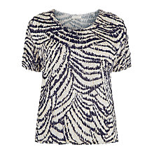 Buy Windsmoor Animal Print Abstract Blouse, Multi Navy Online at johnlewis.com