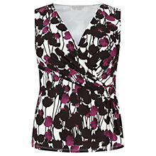 Buy Windsmoor Floral Jersey Top, Multi White Online at johnlewis.com