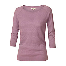 Buy Fat Face Libby Jumper, Dark Freesia Online at johnlewis.com