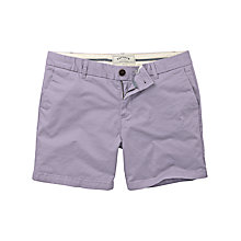 Buy Fat Face Modern Chino Shorts, Parma Violet Online at johnlewis.com