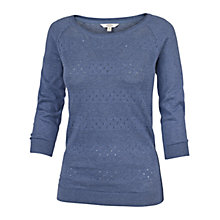 Buy Fat Face Libby Yoke Cotton Jumper, Chambray Online at johnlewis.com