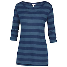 Buy Fat Face Linen Rugby Stripe T-shirt, Indigo Online at johnlewis.com