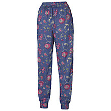 Buy Fat Face Floral Print Trousers, Dark Chambray Online at johnlewis.com