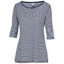 Buy Fat Face Linen Bretton T-shirt, Indigo Online at johnlewis.com