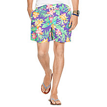 Buy Polo Ralph Lauren Floral Print Traveller Swim Shorts, Purple Water Online at johnlewis.com