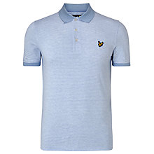 Buy Lyle & Scott Fine Stripe Polo Shirt, Sky Online at johnlewis.com