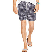Buy Polo Ralph Lauren Traveler Polka Dot Swim Shorts, Black Online at johnlewis.com