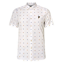 Buy Lyle & Scott Archive Micro Print Short Sleeve Shirt, White Online at johnlewis.com