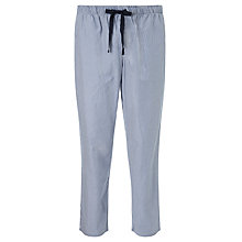 Buy John Lewis Woven Cotton Stripe Lounge Pants, Blue/White Online at johnlewis.com